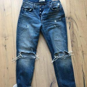 Grlfrnd destressed jeans
